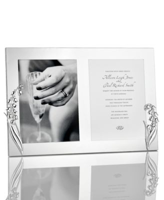 "Monique Lhuillier Picture Frame, Lily of the Valley 5"" x 7"" Double Invitation Frame"