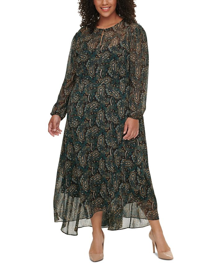 Tommy Hilfiger - Plus Size Paisley-Print Dress