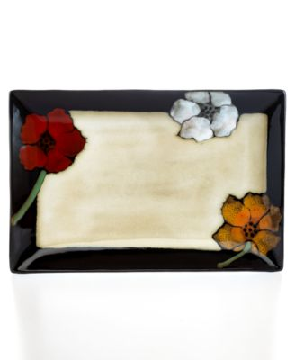 Pfaltzgraff Painted Poppies Rectangular Serving Platter