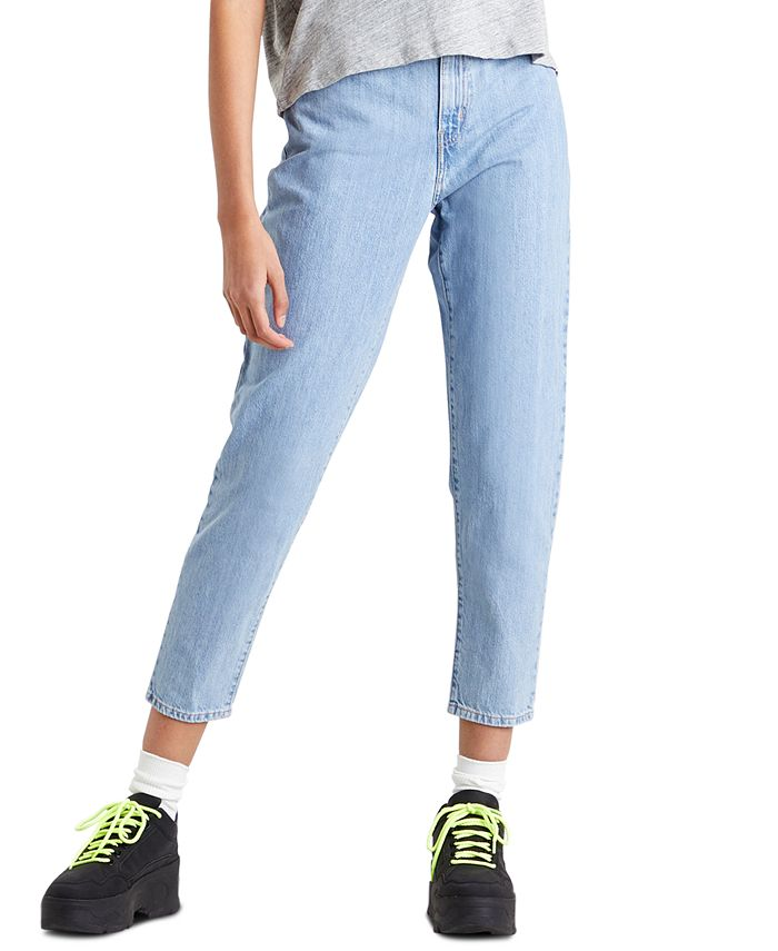Levi's - High-Rise Paperbag-Waist Tapered Cotton Jeans