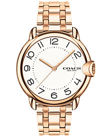 COACH Women's Arden Rose Gold-Plated Bracelet Watch 36mm