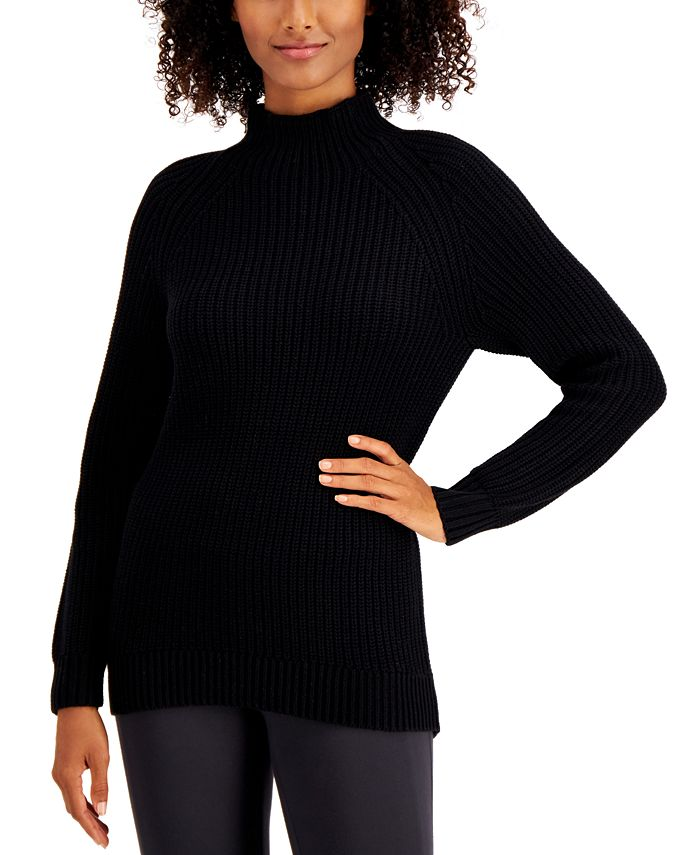 Style & Co - Cotton Mock-Neck Sweater
