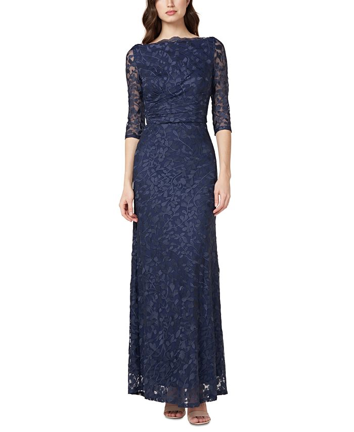 JS Collections - Embroidered Floral Gown