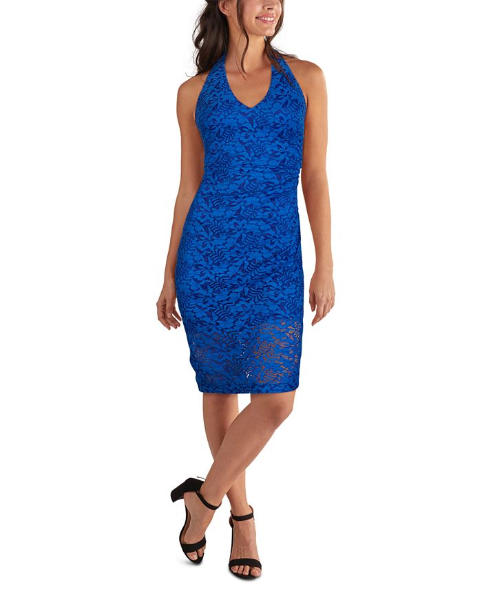 GUESS - Lace Halter-Neck Midi Dress