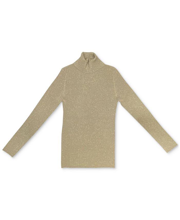 Style & Co - Metallic Turtleneck Sweater