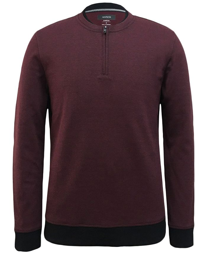Alfani - Men's Quarter-Zip Sweater