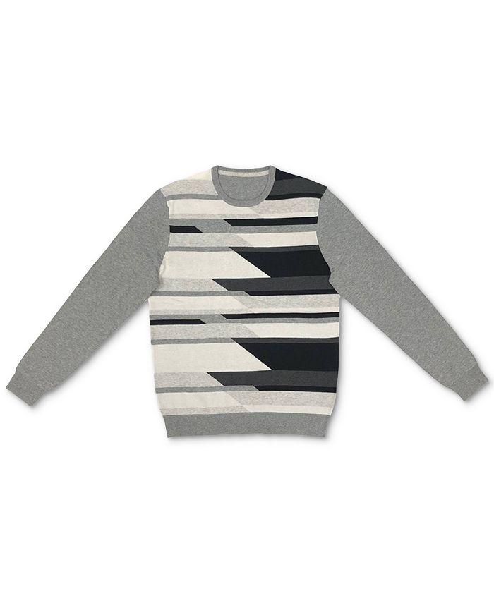 Alfani - Men's Geometric Pattern Cotton Sweater