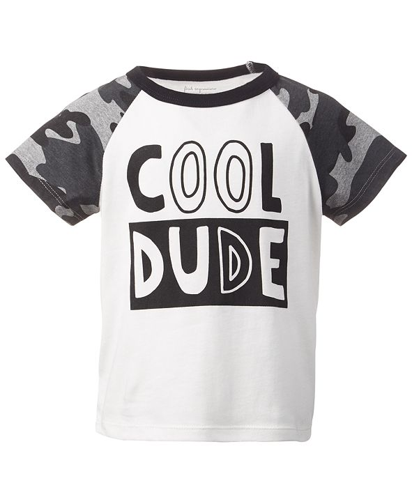 First Impressions Baby Boys Short Sleeve Cool Dude Raglan, Created for Macy's
