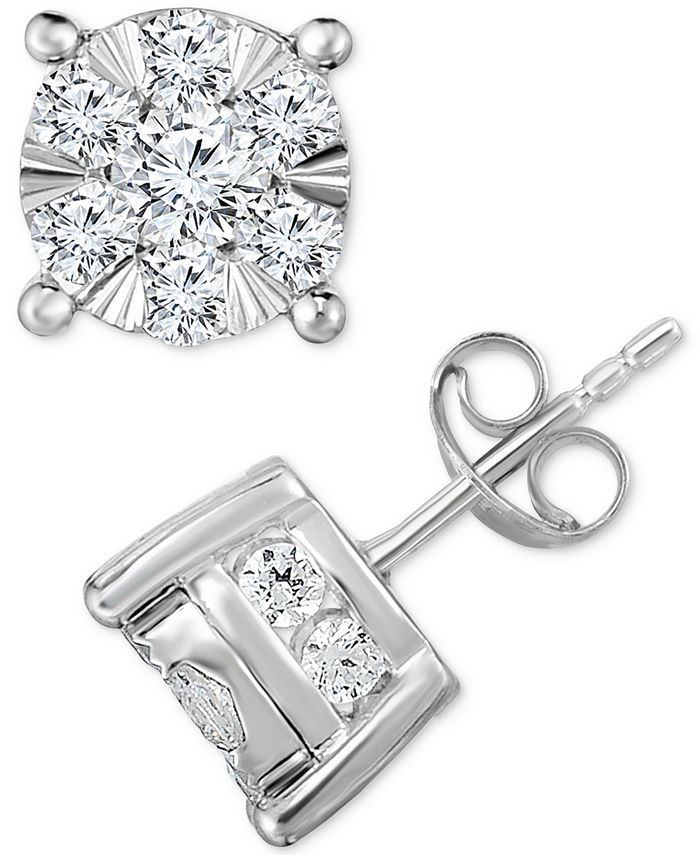 TruMiracle - Diamond Stud Earrings (2 ct. t.w.) in 14k White Gold