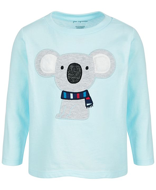 First Impressions Baby Boys Long-Sleeve Koala Cotton T-Shirt, Created for Macy's