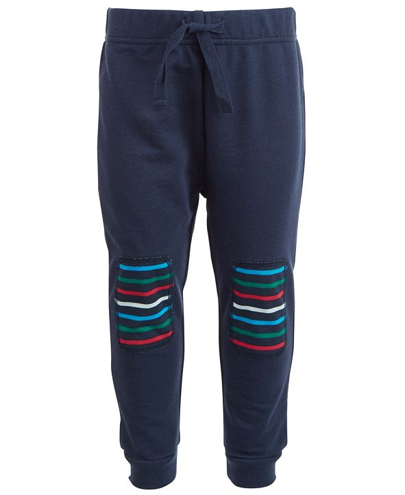 First Impressions Baby Boys Striped Knee Jogger Pants, Created for Macy's