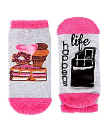 MeMoi Life Happens Chocolate Helps Women's Low Cut Socks