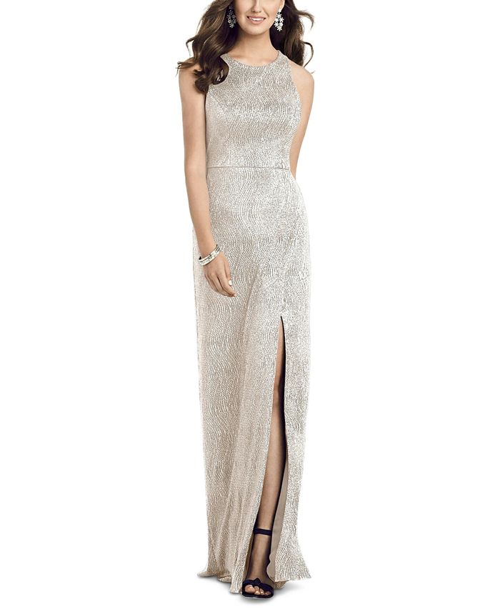 Dessy Collection - Metallic A-Line Gown