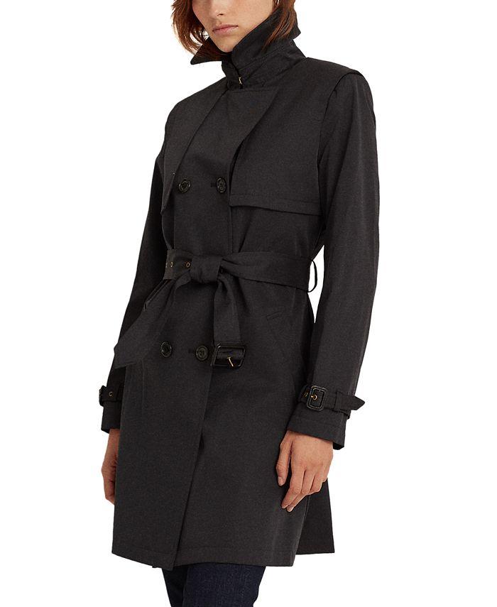 Lauren Ralph Lauren - Double-Collar Double-Breasted Trench Coat