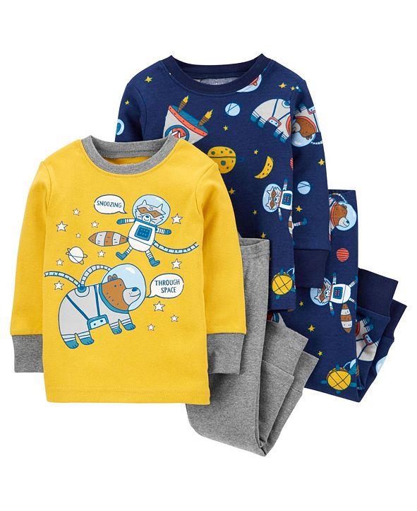 Carter's Baby Boy  4-Piece Space Snug Fit Cotton PJs