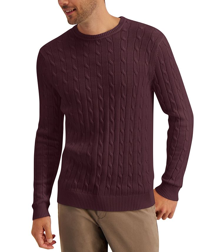 Club Room - Men's Cable-Knit Sweater
