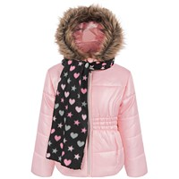 S Rothschild & CO Little Girls Puffer Coat with Scarf
