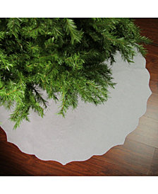 Northlight Christmas Traditions Scalloped Edge Christmas Tree Skirt
