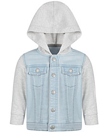 First Impressions Baby Boys Contrast Denim Hoodie, Created for Macy's