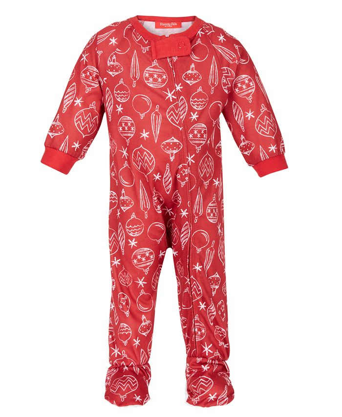 Family Pajamas - Baby Ornament-Print Footed 1-Pc. Pajama