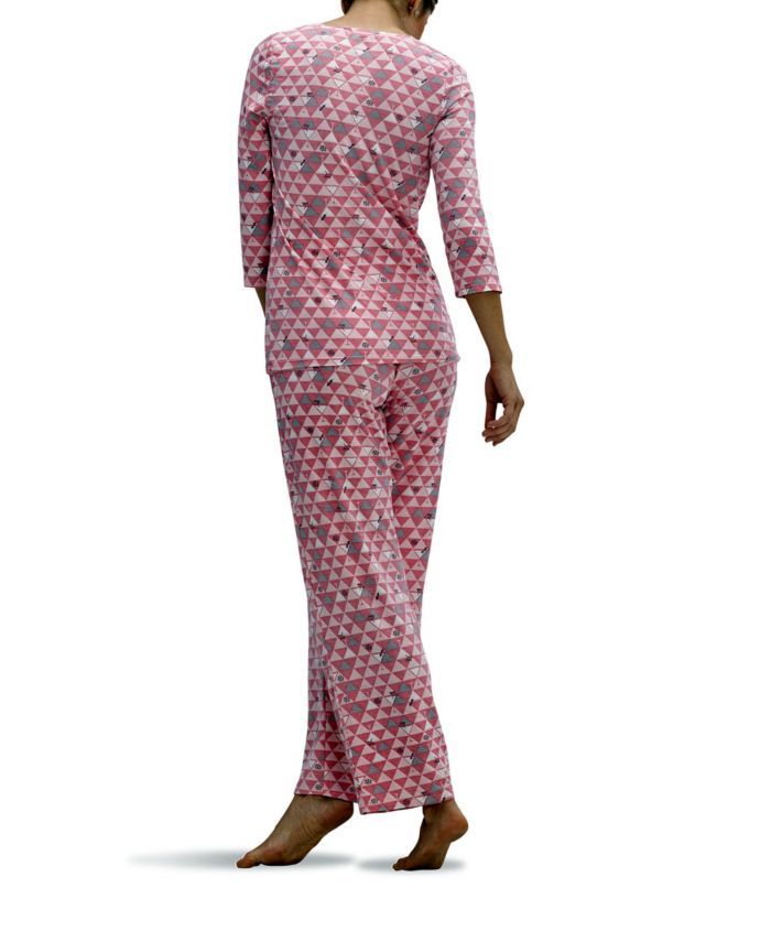 Hue Women's Triangle Sip 2pc Pajama Set & Reviews - Bras, Panties & Lingerie - Women - Macy's
