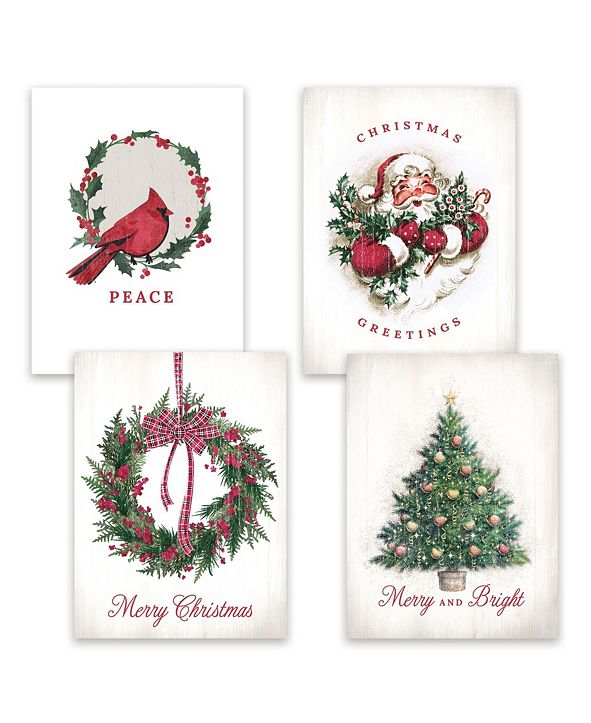 Masterpiece Studios Masterpiece Cards Christmas Past Assortment Holiday Boxed Cards, 16 Cards and 16 Envelopes