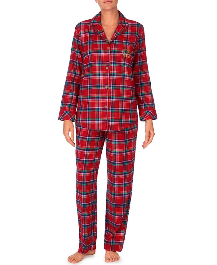 Lauren Ralph Lauren - Brushed Twill Plaid Pajamas Set