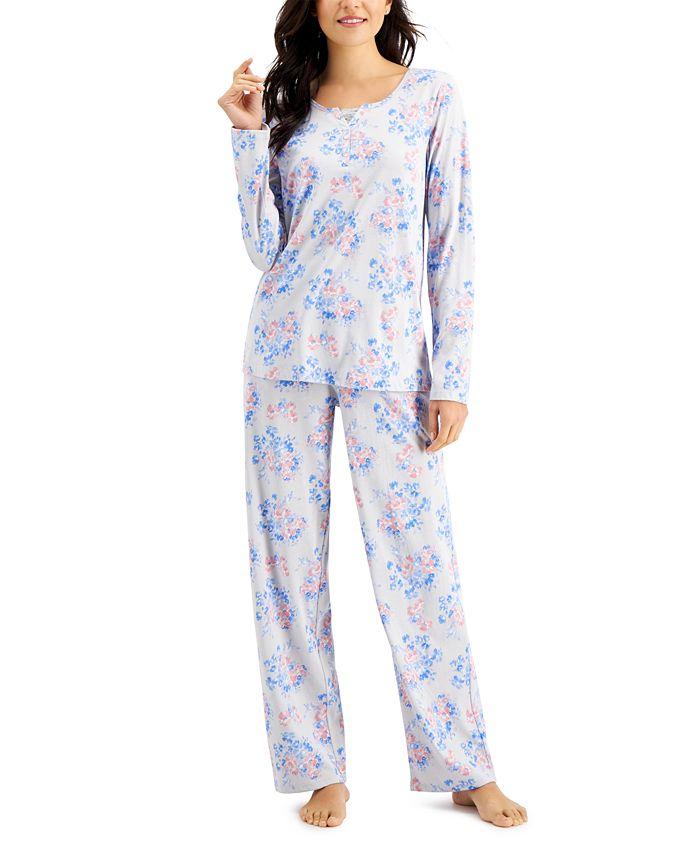 Charter Club - Printed Cotton Pajamas Set