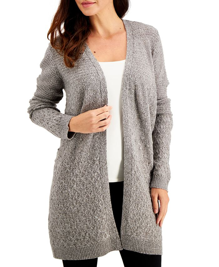 Karen Scott - Turbo Mixed-Stitch Cardigan