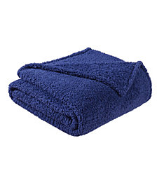 "Brooklyn Loom Marshmallow Sherpa Throw, 60"" x 50"""
