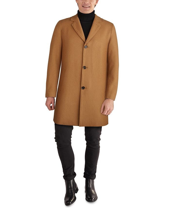 Cole Haan - Men's Melton Classic-Fit Topcoat