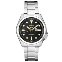 Deals on Seiko Mens Automatic 5 Sports Black Nylon Strap Watch 40mm