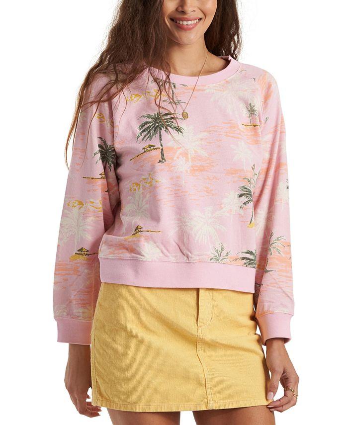 Billabong - Juniors' Sun-Shrunk Printed Pullover Sweatshirt