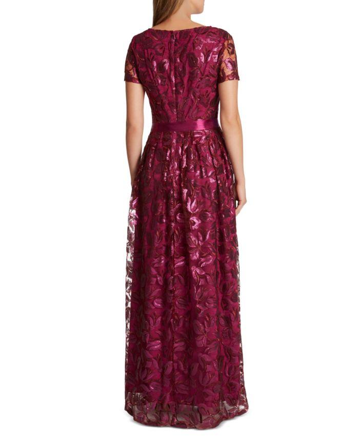 Tahari ASL Floral Sequin Gown & Reviews - Dresses - Women - Macy's
