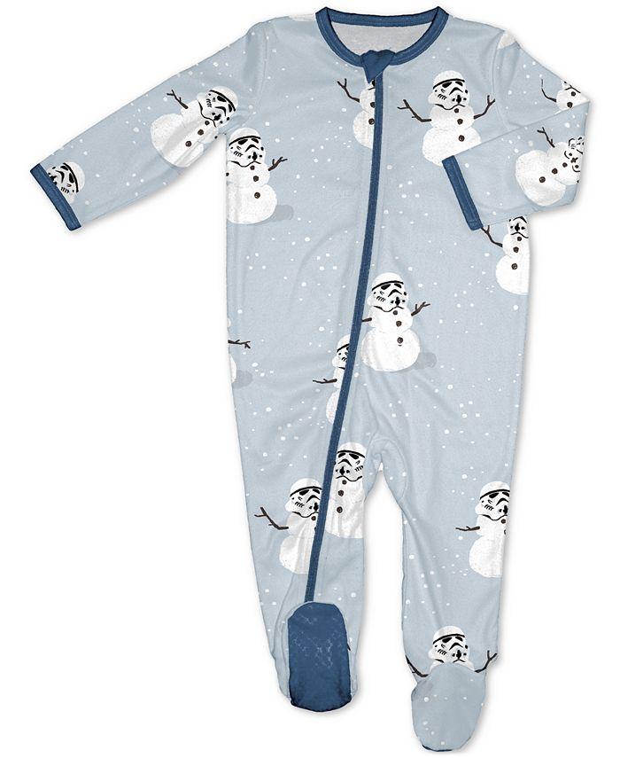 Munki Munki - Baby 1-Pc. Merry Sithmas Stormtrooper-Print Footed Family Pajamas
