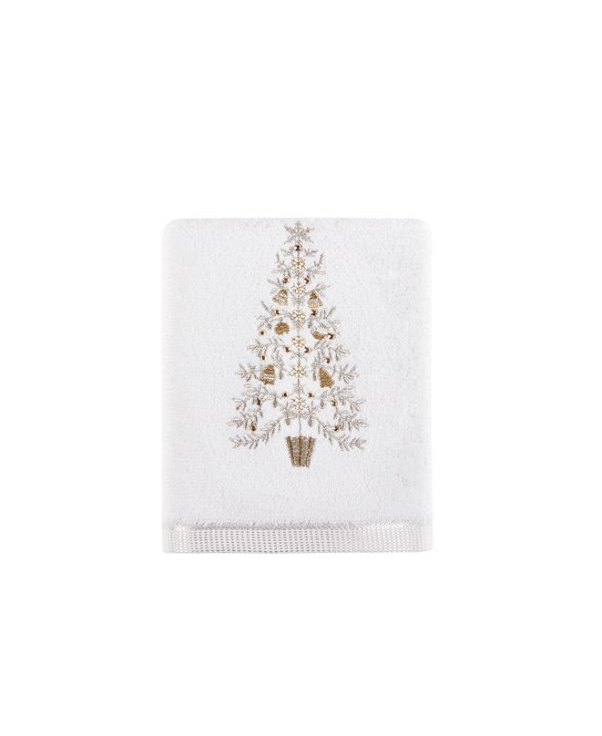 "Martha Stewart Collection Holiday Tree 16"" x 28"" Hand Towel, Created for Macy's"