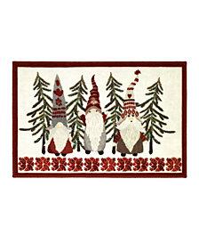 """Avanti Christmas Gnomes 20"""" x 30"""" Rug"""