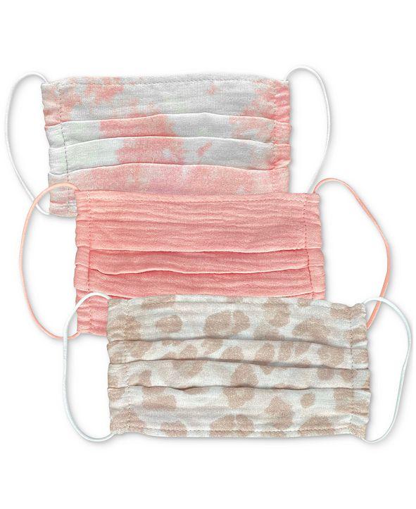 Kitsch Cotton Blush Face Mask 3pc Set