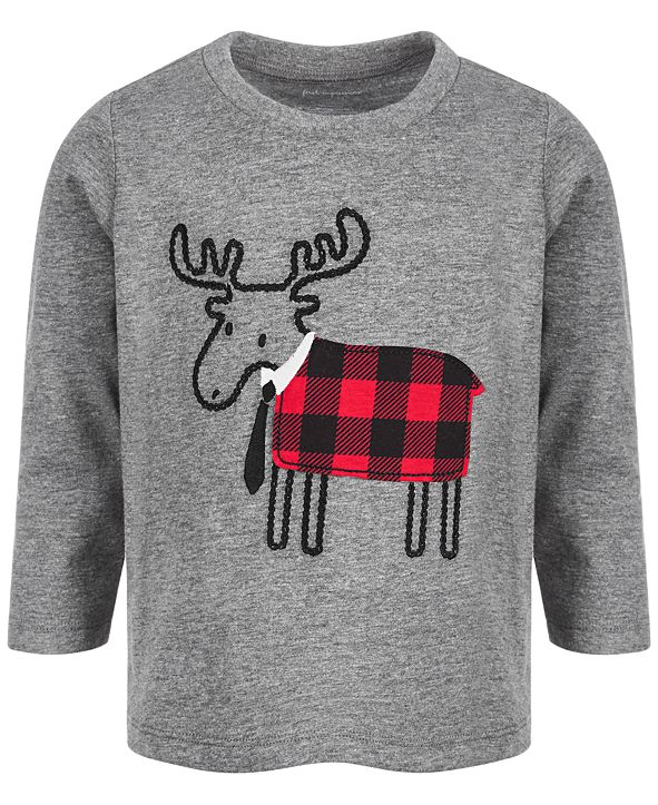 First Impressions Baby Boys Reindeer T-Shirt, Created for Macy's