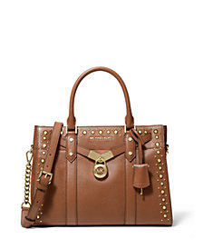 MICHAEL Michael Kors Nouveau Hamilton Leather Satchel