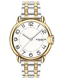 COACH Women's Arden Two-Tone Stainless Steel Bracelet Watch 36mm