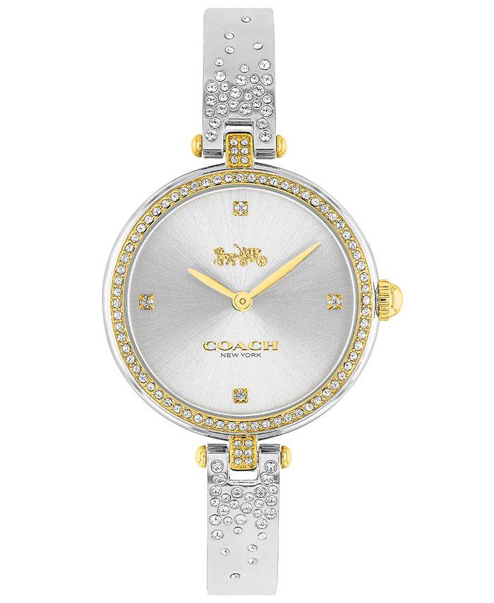 COACH - Women's Park Stainless Steel & Crystal Bangle Bracelet Watch 30mm