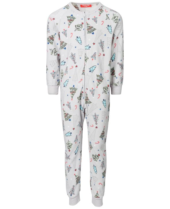 Family Pajamas Matching Kids Festive Trees Onesie Created for Macy's