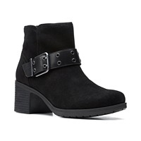Deals on Clarks Womens Hollis Star Buckled Booties