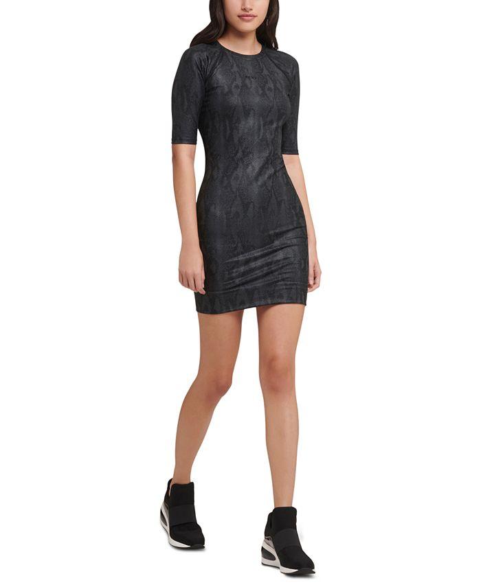 DKNY - Snake-Print Dress