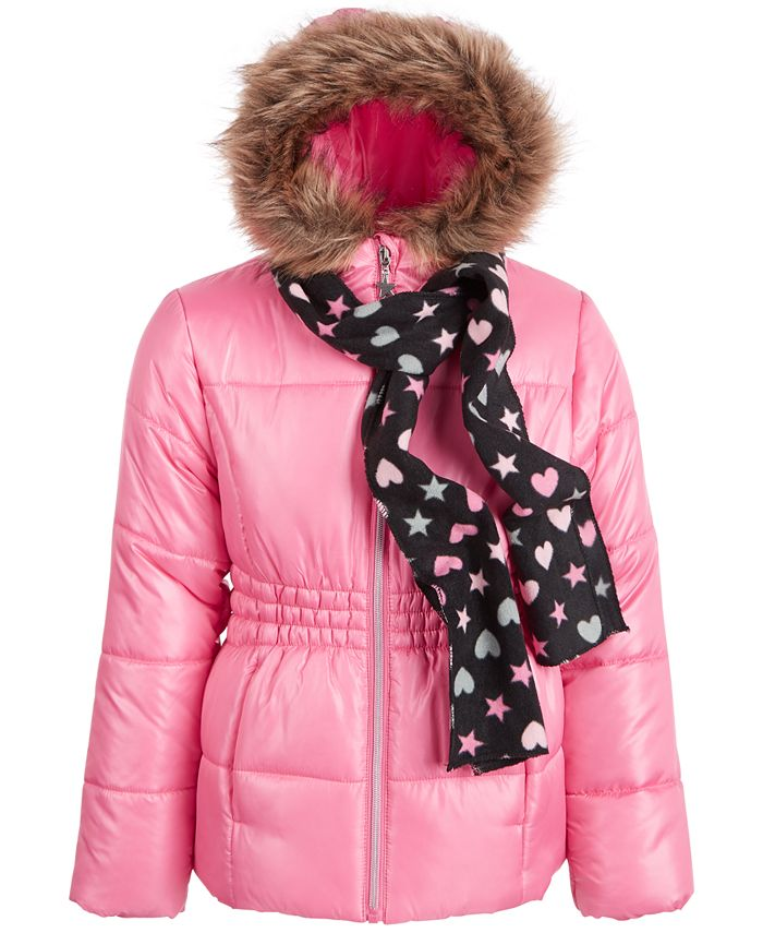 S Rothschild & CO - Big Girls Puffer Coat and Scarf