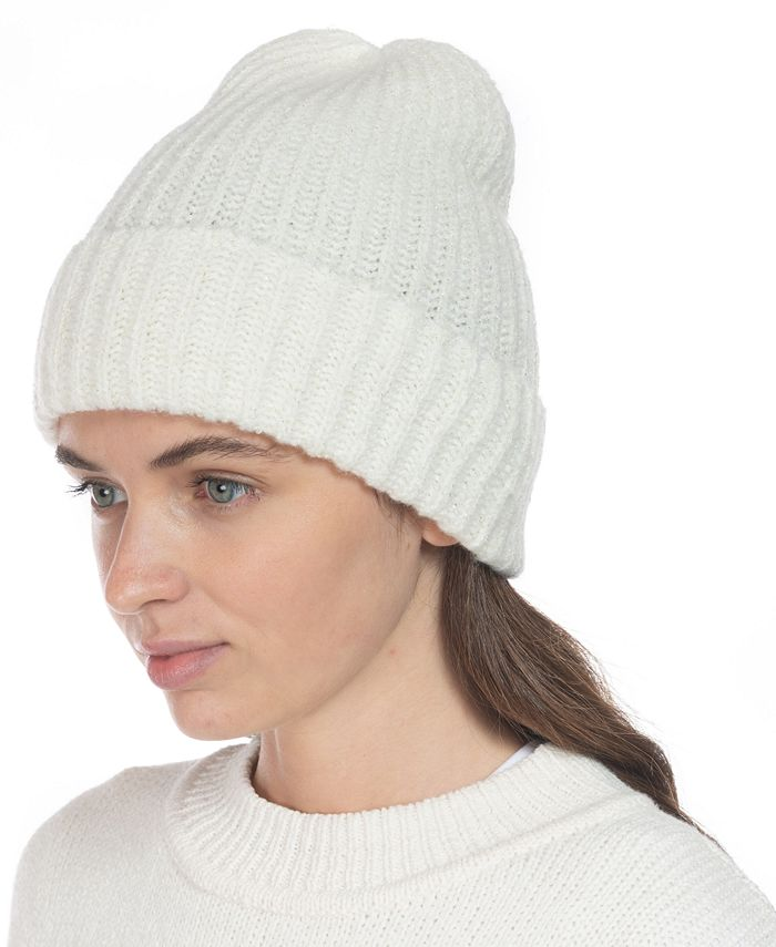 Style & Co - Rib Solid Beanie With Lurex