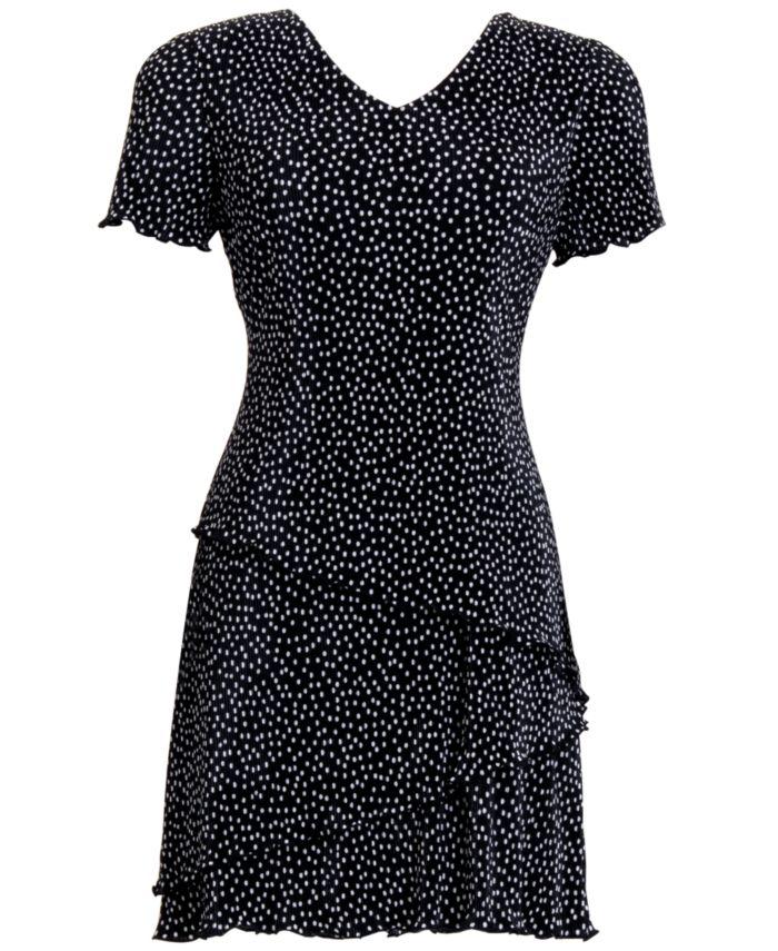 Connected Petite Dot-Print Fit & Flare Dress  & Reviews - Dresses - Petites - Macy's