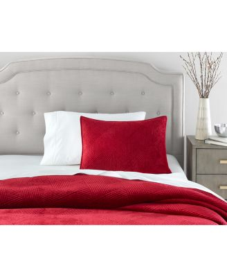 Velvet 2 pc Twin Coverlet, Created for Macy's