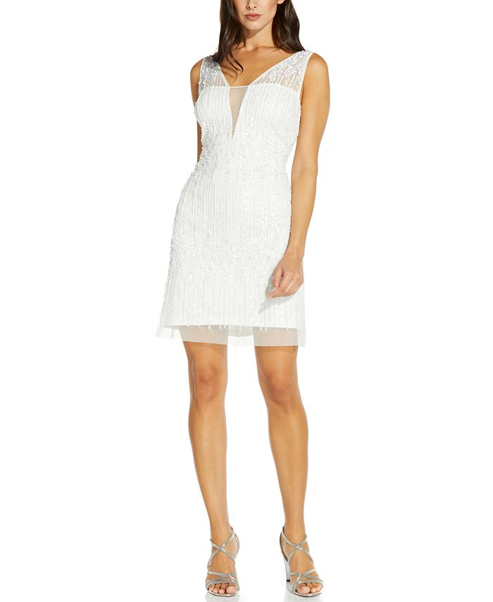 Adrianna Papell - Embellished A-Line Dress